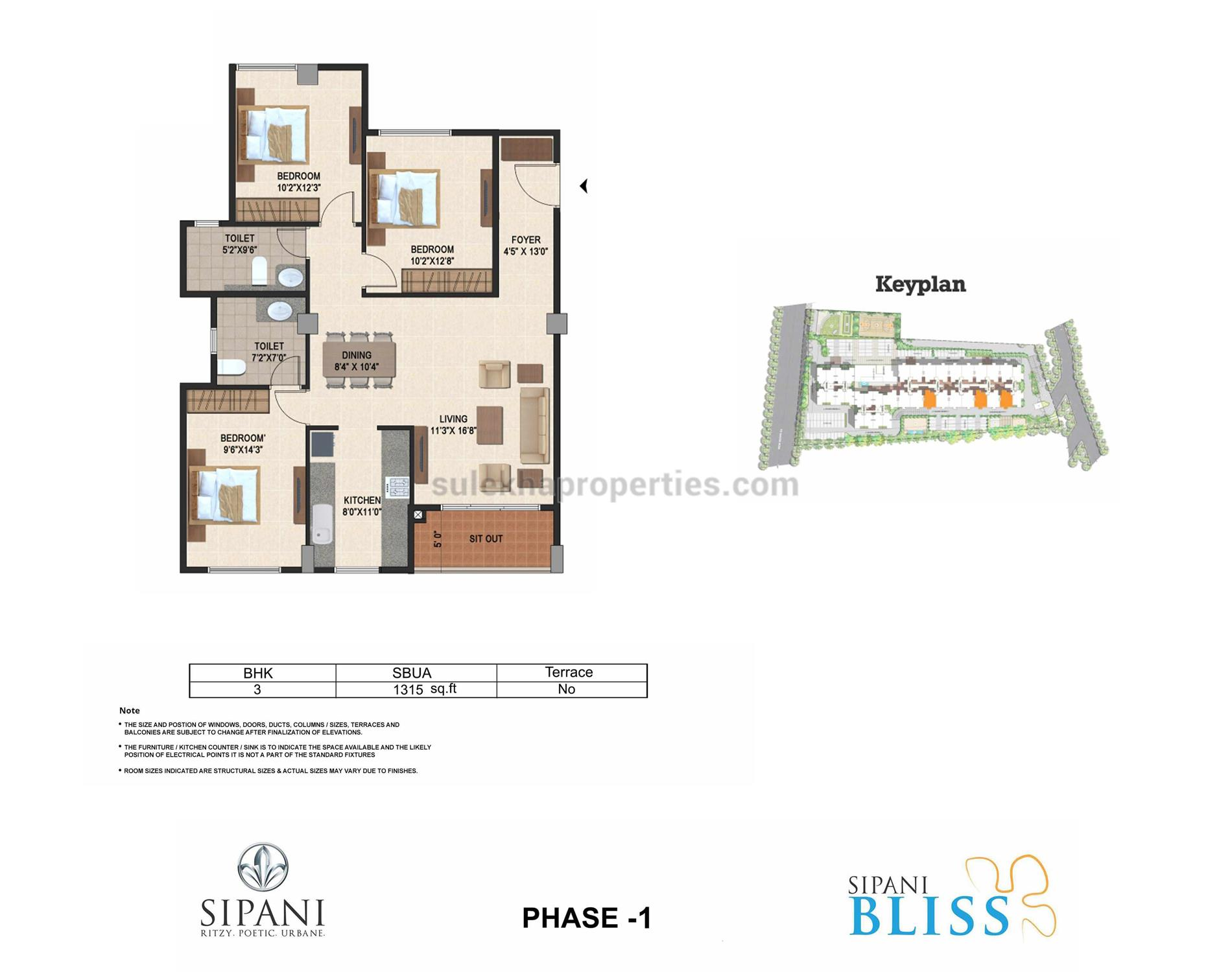 Sipani bliss in chandapura bangalore by sipani properties for Floor plan source