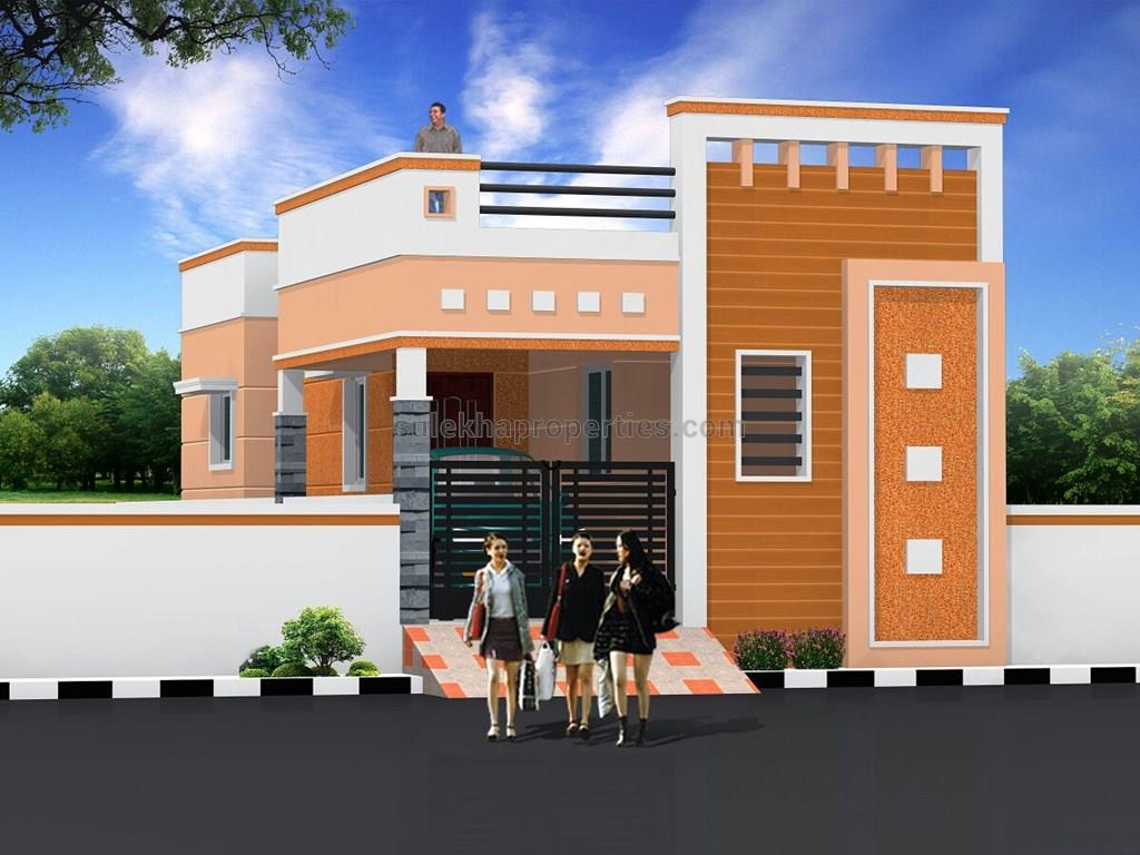 2 bhk independent house for sale in avadi chennai 568 for Indian house front elevation photos for single house