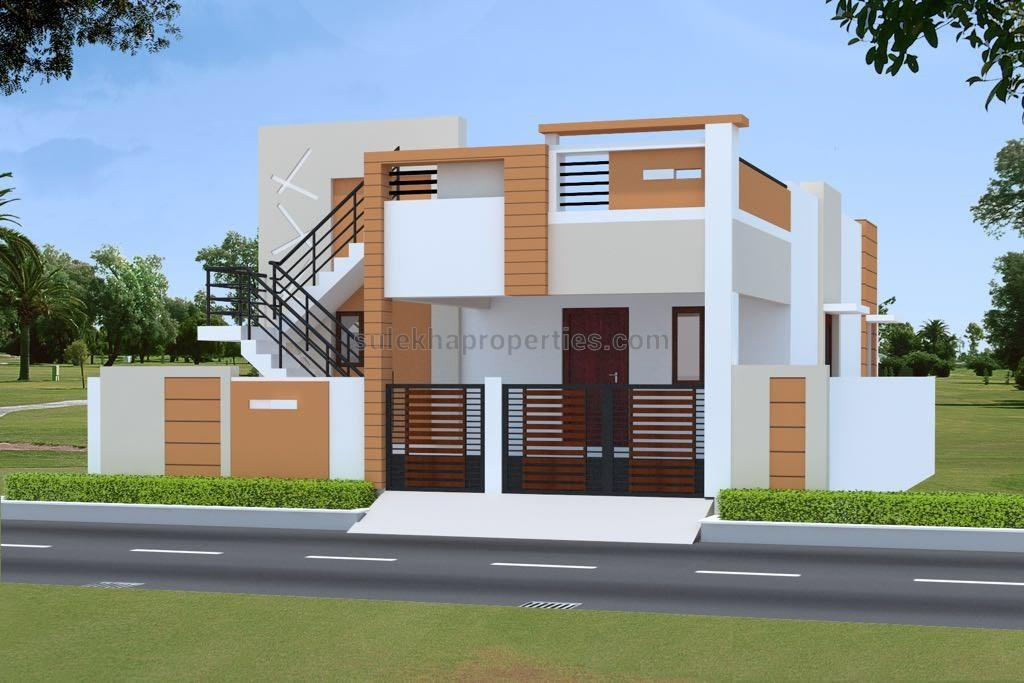2 bedroom independent house plans in tamilnadu for Double bedroom independent house plans