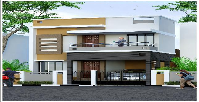 Front Elevation Individual House Chennai : Sebco gulmohar individual houses in morais city trichy by