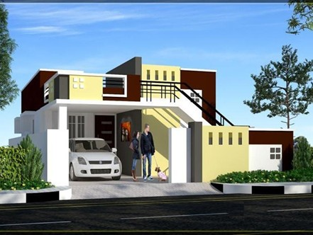 Sai shanthi villa in potheri chennai by metha land for Individual house models in chennai